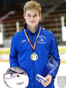 Spöckner Eisstöcke -Stefan Empl Deutscher Meister U19- stocksport-spoeckner.de